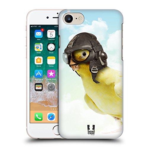 Head Case Designs Capitan Pappagallo con Cappello Buffo Animali Divertenti Cover Dura per Parte Posteriore e Sfondo di Design Abbinato Compatibile con Apple iPhone 7 / iPhone 8 / iPhone SE 2020