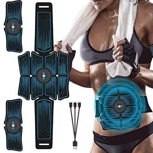 FJLR Spierstimulator Oplaadbare Ab Toner Riem Trainer Maag Toning Fitness Training Apparatuur Workout Apparatuur voor Mannen En Vrouwen Afvallen Gebouw