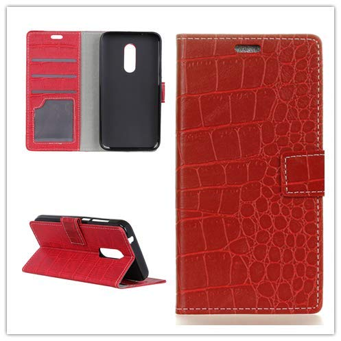Custodia® Capirotazo Billetera Funda para LG G7 Fit (Rojo)
