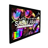 Elite Screens Ceiling and Ambient Light Rejecting Fixed Frame Projector Screen Sable Frame CineGrey 3D, 150-inch Diagonal 16:9 for Home Theater, Movie and Office Presentations, ER150DHD3