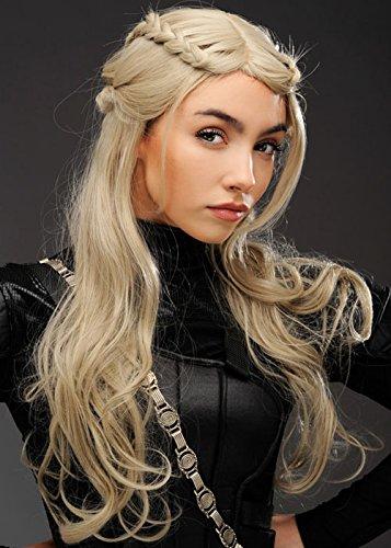 Magic Box Womens Deluxe Madre de Dragones Estilo Ash Blonde Wig