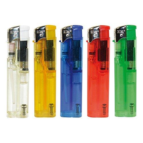 Elektronische Slim Edition Feuerzeuge, Elektrofeuerzeug, transparent, wiederaufladbar, 50er Display