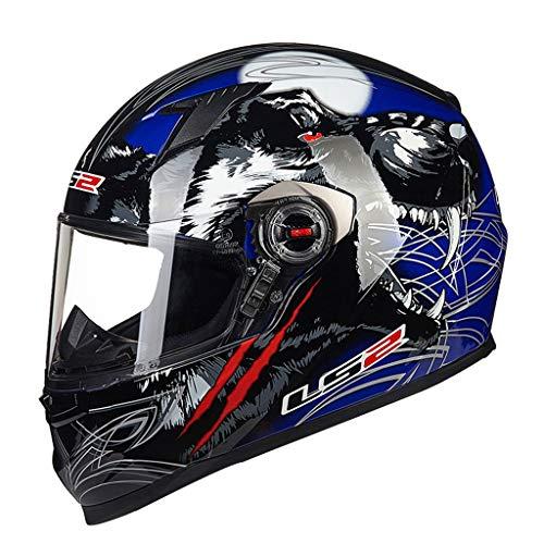 Casque casque moto hommes et femmes casque de locomotive de course (Couleur : B-XL(58-59CM))