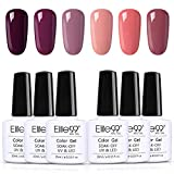 Vernis Semi permanent Vernis à Ongles 6pcs lot vernis gel Nail Gel UV LED Soakoff Kit Manucure Pour Ongle, 10ml kit5