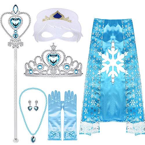 vamei Princesa Disfraz Elsa Accesorios Niña Princesa Collar