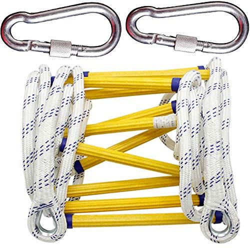 IGPG Noodkoord ladder met haak vuur ontsnappen redding klimmen langs de ladder nylon ladder antenne werk, snelle implementatie en gemakkelijk te gebruiken, gemakkelijk op te slaan