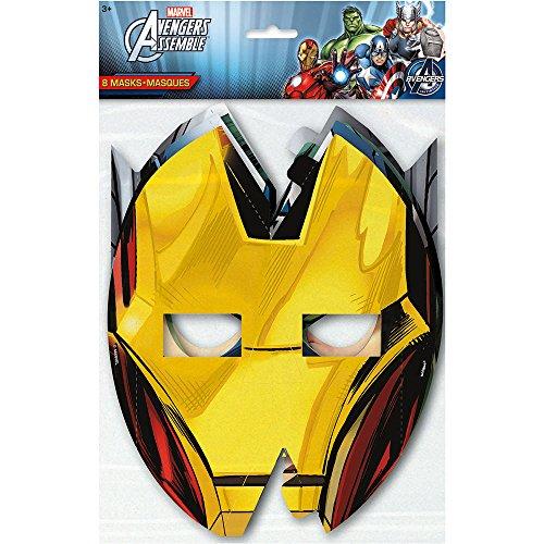 Unique Avengers Party Masks (8 Count)