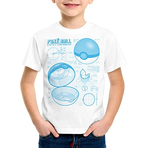 A.N.T. Poké Ball Cianotipo Camiseta...