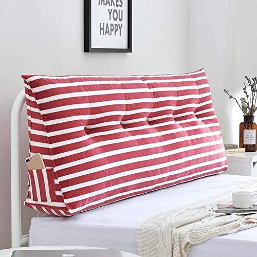 B-fengliu Einzelkissen for Doppelgewebe Nachttisch, Kunst, großen Rücken, dreieckigen Weich Fall Multifunktionsband, 3colors, 8 Größen (Color : A, Size : 90×20×50cm)