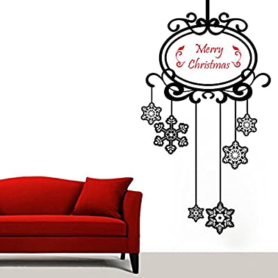 DECOR Kafe Home Decor Christmas Stars Wall Sticker, Wall Sticker for Bedroom, Wall Art, Wall Poster (PVC Vinyl, 58 X 106 cm)