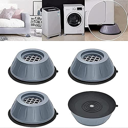 4 piezas de soporte para lavadora con cancelación de ruido y golpes, almohadillas antivibración para lavadora y secadora, pedestales de lavadora, almohadillas para pies de lavadora (L)