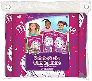 Amscan Disney Sofia The First Birthday Party Potato Sack Race Game (6 Piece), 11.4