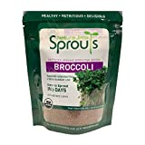Nature Jim's Sprouts Broccoli Sprout Seeds - Certified Organic Broccoli Sprouting Seeds for Indoor/Outdoor Use - Rich in Sulforaphane Healthy, Nutritious Broccoli Seeds Sprout in 5 Days - 8oz