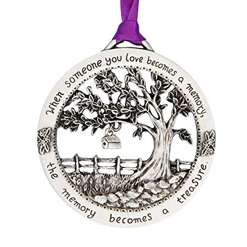 Usuny Merry Christmas Memorial Ornament - When Someone You Love Becomes a Memory, Personalised Memory Christmas Tree Hang Ornament, Remembrance Bauble Memorial Plaque