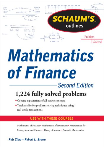 Schaum's Outline of Mathematics of Finance, Second Edition (Schaum's Outlines) (English Edition)
