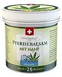 SwissMedicus - balsamo per cavalli con raffreddamento alla canapa - crema da massaggio per muscoli e legamenti - estratti naturali di piante - uso quotidiano - unguento per cavalli 250 ml