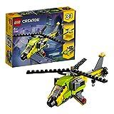 LEGO Creator AvventurainElicottero, Motoscafo e Aliante, Set da Costruzione3in1,Veicoli Giocattolo per Bambini dai 6 Anni in su, 31092