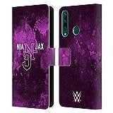 Head Case Designs Licenciado Oficialmente WWE No Soy como la mayoría de Las Chicas Nia Jax Carcasa de Cuero Tipo Libro Compatible con Huawei Y6p