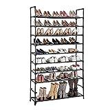 Almacenamiento de zapatos 10 niveles de zapato organizador estante zapatillas gabinete ahorrador espacio entrante zapato...