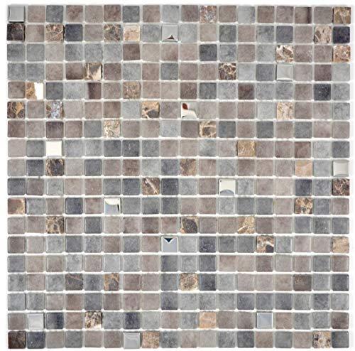 Mozaïektegel doorschijnend steen basalt BASALTO BAD WC keuken WANDMOS91-1244