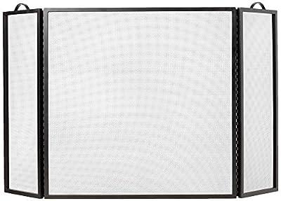"Plow & Hearth 3 Panel Flatguard Fireplace Screen, 50"" W x 30"" H, Black from Plow & Hearth"