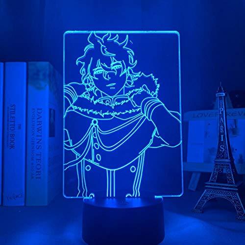 3D Night Light 3D Light Anime LED Light for Kids Bedroom Decoration Night Light Birthday gift Comic Gadget Black Clover Light Birthday gifts for Children