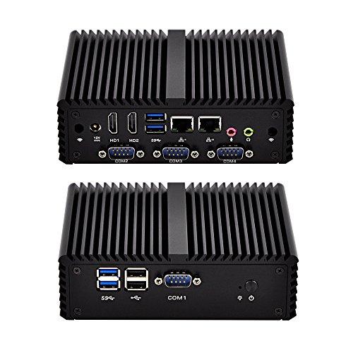 Best Fanless Mini Pc Qotom-Q430P-S08 4Th Generation I3-4005U Haswell,15W 4Gb Ddr3 Ram 16Gb Ssd, Fanless Aluminium Alloy,Usb3.0,Dc 12V,X86£¬Windows Os Linux