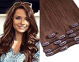 Clip In Extensions Set von GlamXtensions für eine komplette Haarverlängerung 100% Remy glattes...