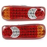 2x feux arrière à LED 12V usage universelle, convient aux camions remorques bennes camions