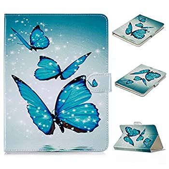UGOcase Universal Folio Case for 6.7 -7.5  Tablet PU Leather Stand Protective Magnetic Wallet Case Cover for F ire 7 2017 Galaxy Tab Nexus Dragon Touch ASUS,KOBO,RCA & More 7  Tab,Blue Butterfly