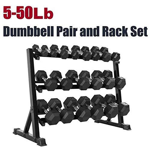 CAP Barbell SDRS-550R-14A Rubber Hex Dumbbell Weight Set, 550 lb