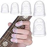 40 Piezas Guitarra Protector Dedos Silicona,5 Tamaños para Protector de Dedos de Silicona de Guitarra,Protector de...