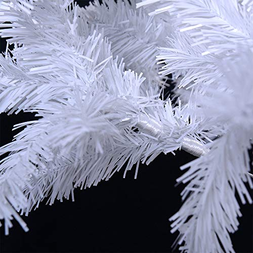 CINECEクリスマスツリーリアルニードツリー高濃密度組立簡単収納便利インテリア用品説明書と保護用手袋付き(ホワイト,180cm)