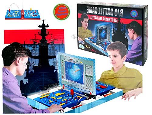 Battaglia Navale Elettronica Battaglia Navale Gioco Affonda la Flotta da Tavolo Giocattolo con Effetti Sonori