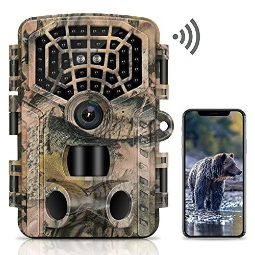 VANBAR Wildkamera 4K 32MP WLAN Bluetooth Wildkamera mit Bewegungsmelder Nachtsicht 0,2s Schnelle Trigger Geschwindigkeit 940nm IR LEDs Nachtsicht Jagdkamera mit 120° Weitwinkel IP66 Wasserdicht