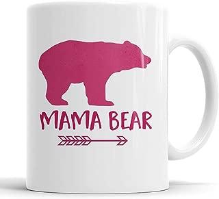 Mama Bear Pink Arrow Coffee Mug, Gift for New Mom