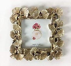 4 inch single ginkgo leaf frame set table decoration creative wedding photography European retro resin photo frame - Gold