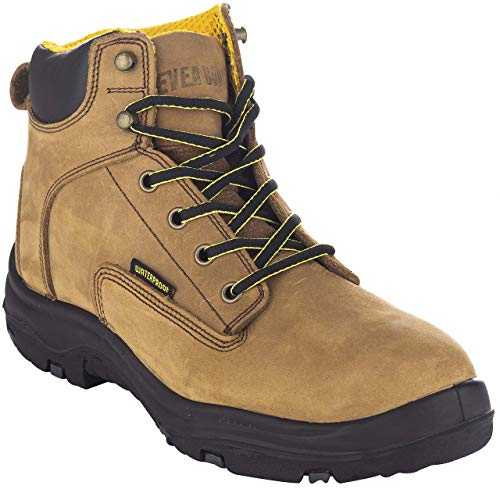 EVER BOOTS Men's Premium Leather Waterproof Work Boots Insulated Rubber Outsole for Hiking (11 D(M), Copper)