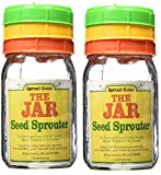 Sprout-Ease The Jar Seed Sprouter 1 qt Growin Cap ( 2 pack )