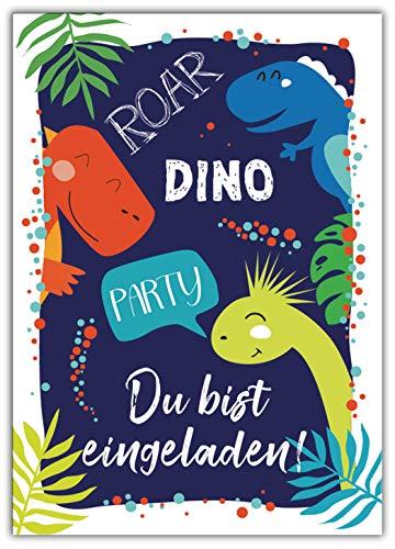 12 Einladungskarten Kindergeburtstag Jungen Mädchen Dinosaurier Einladungen Kinder