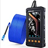 33FT Industrial Endoscope, Oiiwak Borescope Inspection Camera 5.5mm 1080P for Pipe Drain Sewer Plumbing with 4.3 Inch IPS Screen IP67 Waterproof Scope Camera 6 LED Lights, Tool Box(10M/33FT)