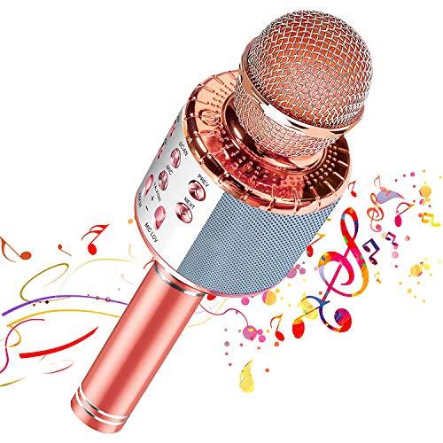 【2020 New Design】 Wireless Bluetooth Karaoke Microphone, Portable...