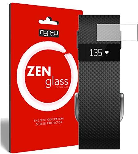 nandu I ZenGlass Pellicola Protettiva in Vetro Compatibile con Fitbit Charge/Charge HR I Protezione Schermo 9H