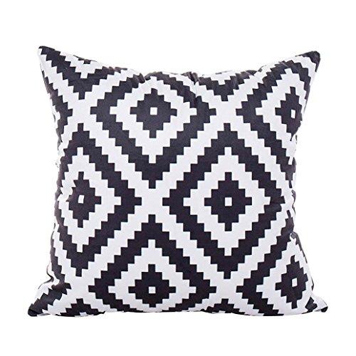 Wuayi Housses de coussin carrées en polyester doux pour décoration de la maison ou du canapé (B: 43 x 43 cm)