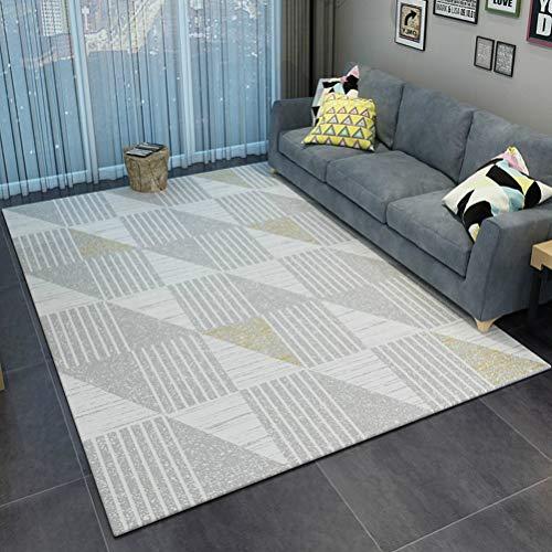 Eenvoudige Stijlvolle Kleurrijke Kleuren Modern Abstract Arts tapijten woonkamer en slaapkamer Rugs Wit Zwart grijs poeder geweven tapijt 20/4/30 (Color : B, Size : 200cmx300cm)