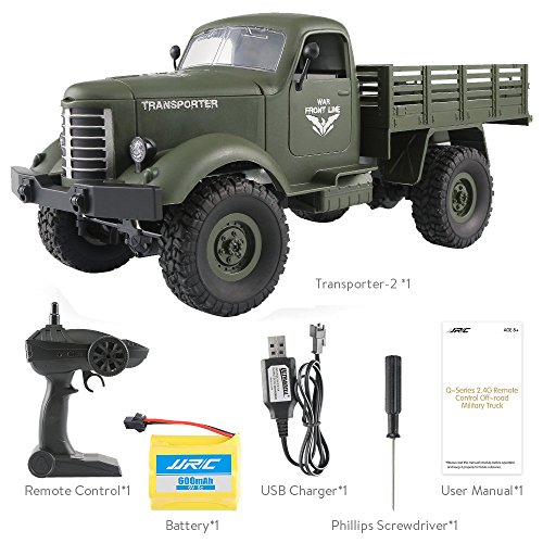 Best Deals! HHoo88 Q60/Q61 RC Car 1/16 2.4G Remote Control 4/6WD Track Off-Road Military Truck RTR T...