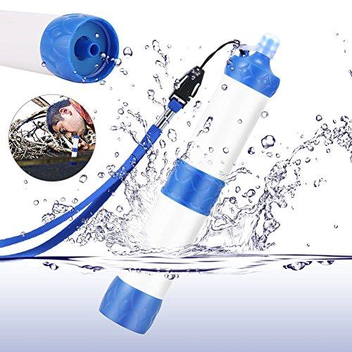 Wildlead Filtre purificateur d'eau, de plein air, portable, pour camping, randonnée, Kit de survie d'urgence, blanc