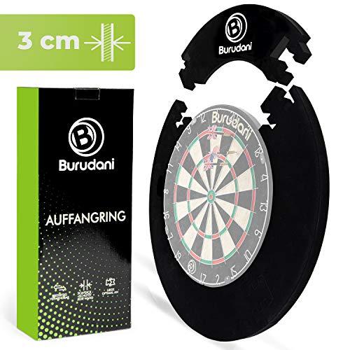 Burudani ® Dart Auffangring | Hochwertiger Dart Surround [3cm] Wandschutz | Ideale Passform für alle Standard Dartscheiben | [13cm] Extra Schutz