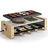 VonShef Raclette Grill with 8 Mini Pans, Non-Stick Plates and Adjustable Temperature Control