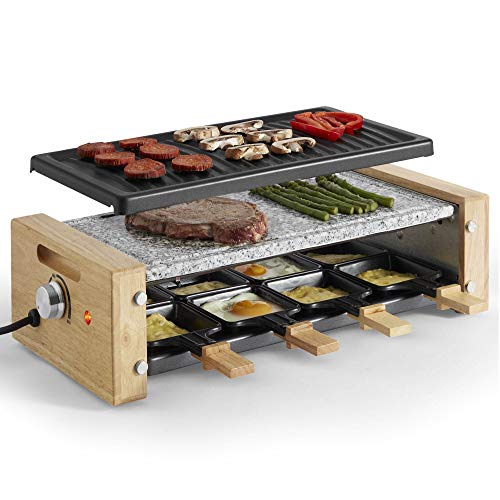 VonShef Raclette Grill Electric with 8 Mini Pans, Non-Stick Easy Clean...